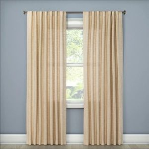 Textured Weave Back Tab Window Curtain